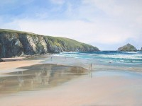 REFLECTIONS IN THE SAND - HOLYWELL BAY