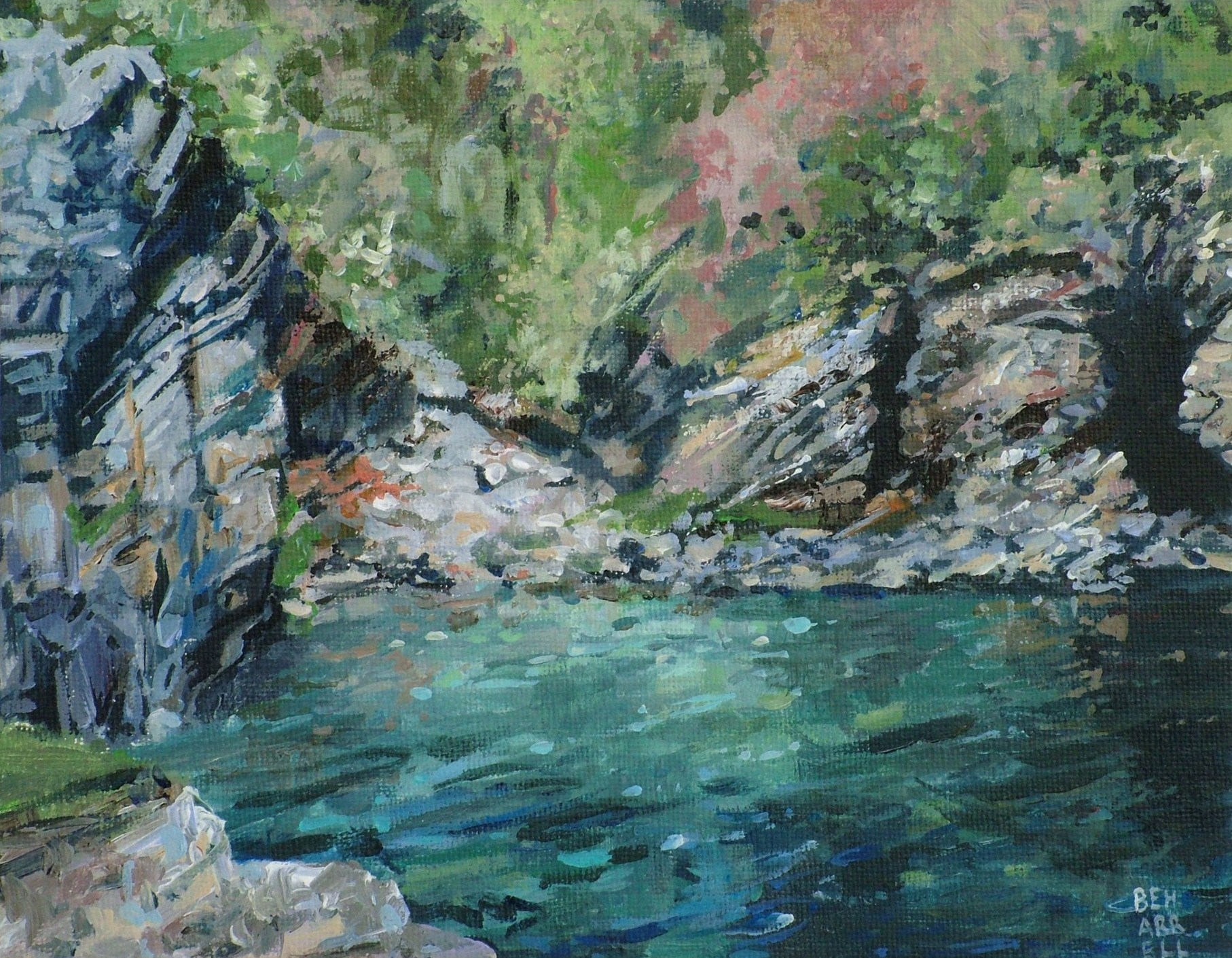 Turquoise & Blue at Prussia Cove - Cornish Art Gallery