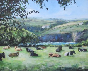 Helford River, Mawnan Smith, Oil Painting, Falmouth Artist, Falmouth,Cornwall