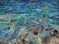 Seaglass & Pebbles, memory,texture,Mixed Media,Gentle Currents III